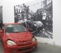 "photo of Gustav Metzger's ""Kill the Cars"""