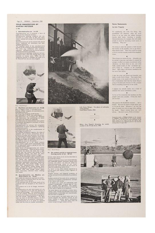 "photo of Gustav Metzger's ""On Random Activity in Material / Transforming Works of Art"""