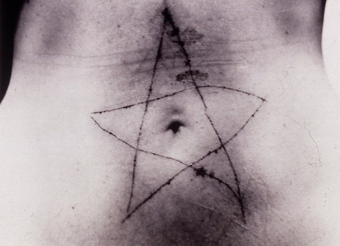 photo of Marina Abramovic's work
