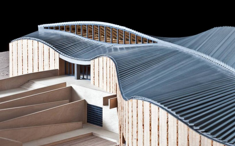 Center for Art and Technology MANGGHA in Krakow. Design: Arata Isozaki & Associates, K. Ingarden – J. Ewy & Jet Atelier; model: Nowe Studio Wojciech Nowicki; photo: Marcin Czechowicz