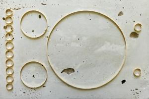 Iza Tarasewicz Obeliscus, 2011 Sculpture, concrete, gold, plywood (detail) 28 x 40 x 140 cm  Courtesy of the artist and BWA Warszawa Gallery Photo: Piotr Żylińsk