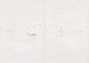 Iza Tarasewicz View, 2011 Drawing, paper, plasticine 41,5 x 45 cm  Photo: Iza Tarasewicz